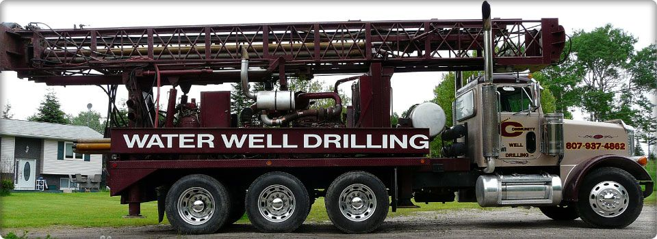 Wolframe's drilling truck in Calgary